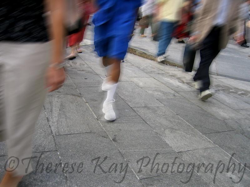 Photograph People Walking Boston